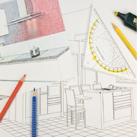 Küchenangebot mit detaillierter Aufstellung und Skizzen