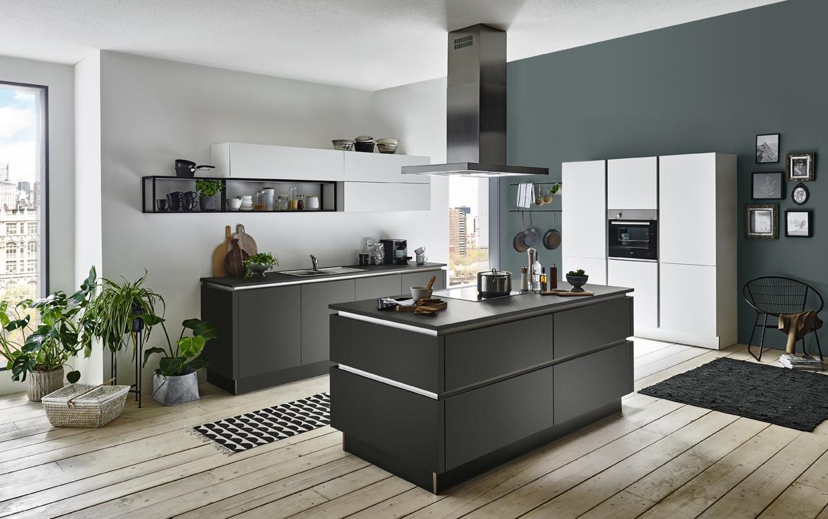 Nolte Küche Titan graphit mit Feel arctic weiß
