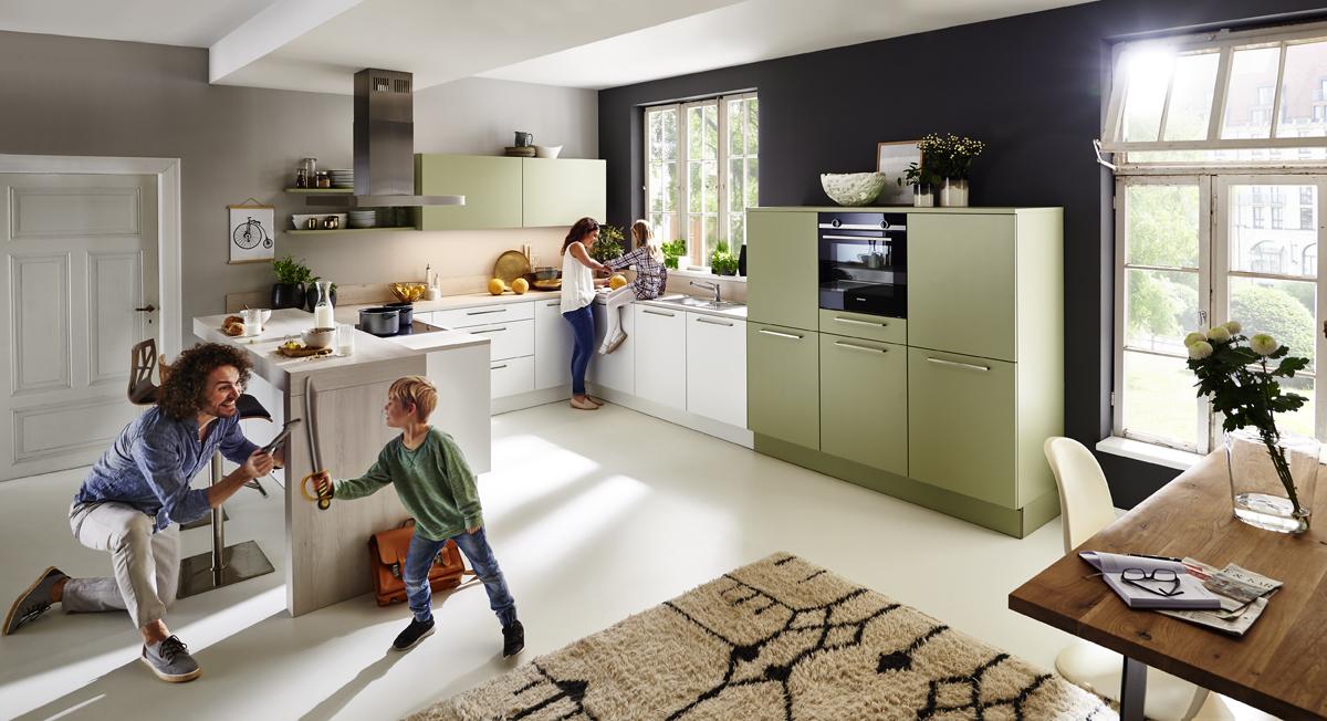 Nolte Küche Softlack Weiß mit Avocado