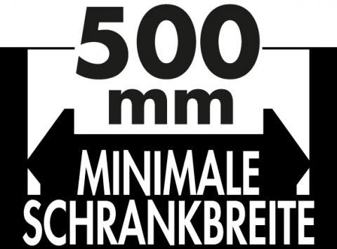 Schrankbreite ab 500mm