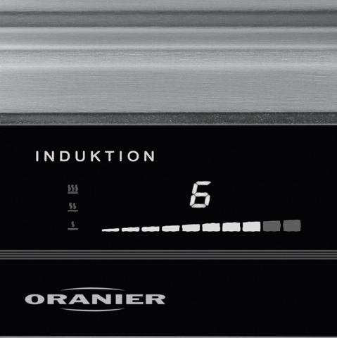ORANIER Domino-Induktions-Teppan Yaki 2738 SL+ – Slider-LED weiß