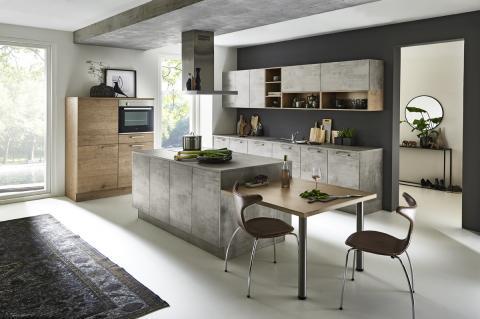 Nolte Küche Stone Beton mit Manhattan Steineiche