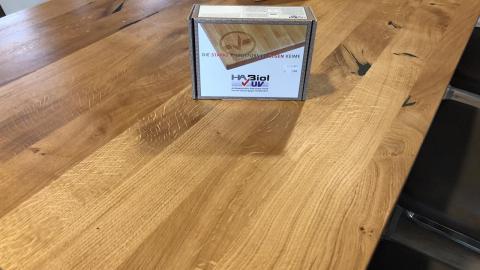 Tischplatte 200 x 95 cm handcraftet Pflegeöl