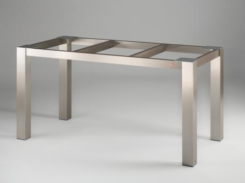 Tischgestell Edelstahlfarbig glatt