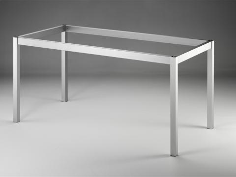 Tischgestell TG 40 Edelstahlfarbig glatt