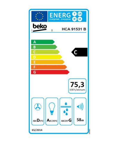 Energielabel BEKO HCA 91531 B