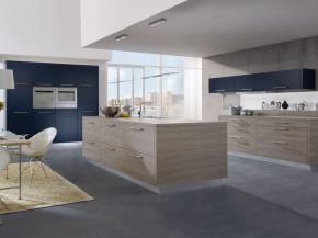 Designer Küche Alno Fine matt lackiert mit Dekor