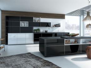 Design-Küche Vetrina und Alno Vera Glas