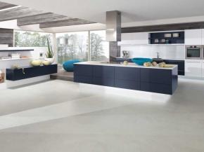 Alno-Küche Alnofine in weiß und blau matt