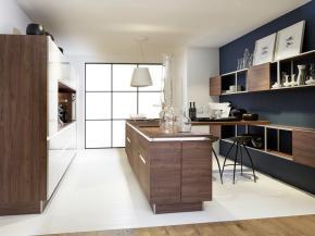 Nolte Küche Artwood Nussbaum Royal mit Lux Sahara HG