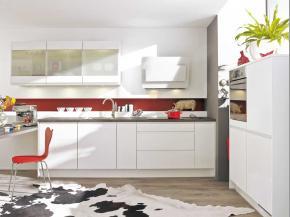 Küche klassisch: Pino in weiß mit Highboard