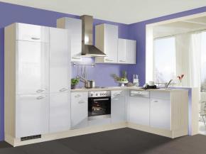 Küche klassisch: Winkelform in weiß