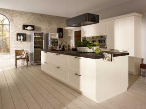 Moderne Küche mit Insel Alnobrit magnolia