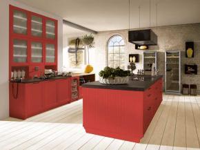 Große Alnoküche in rot Alnobrit in RAL Farben lieferbar