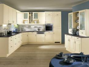 Winkelküche Pino magnolia mit Buffet