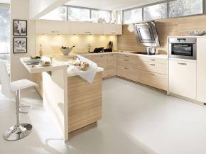 Moderne Alno Küche Plan-Akazie