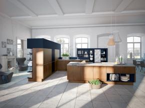 Moderne Küche Alno-Plan-Walnuss