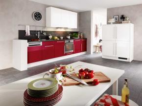 Küche modern: Pino - rot mit weiß