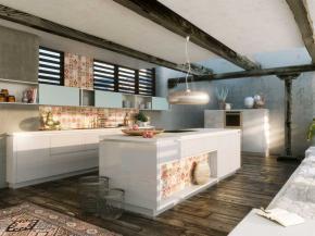 Küche Alno Star Sign und Fine hellgrau