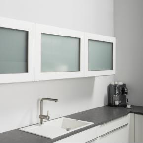 Schwebeklappenschrank mit Glas HLV