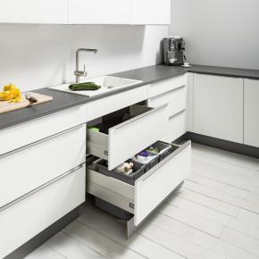 Spülenschrank mit Großraumauszug SABS PremiumLine Box