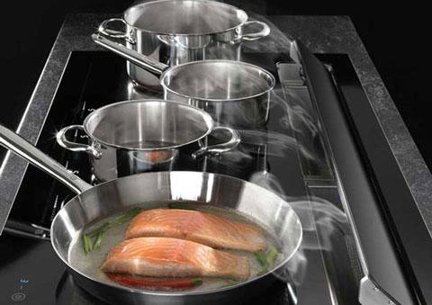 Kochfeldabzug und Muldenlüfter